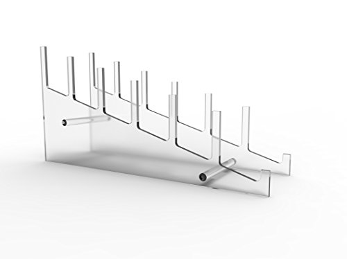 FixtureDisplays Large Multiple Plate Display Rack Clear Holder 10748