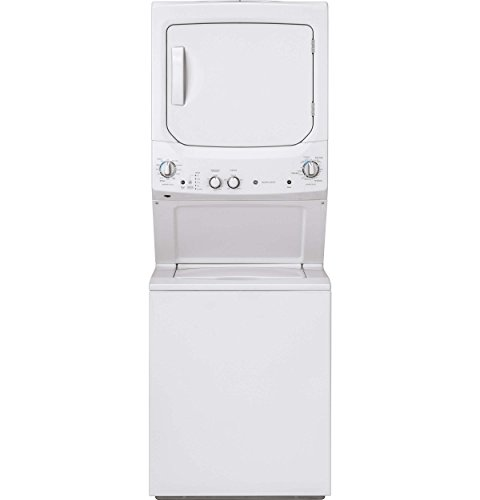 (GE GUD27GSSMWW 27 Inch Gas Laundry Center with 3.8 cu. ft. Washer Capacity, in White)
