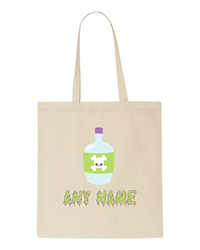 Halloween Shopper Beige Any Tote Bag Personalised Witches Custom Potion Name Spooky Magic Brew nP8HZ8T