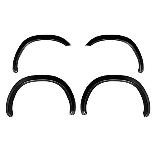 Premium Fender Flares for 2002-2008 Dodge Ram 1500; 2003-2009 Ram 2500 3500 (ONLY Fit Fleetside Models with 8' Bed) | Fine-Textured Matte Black Paintable Factory Style 4pc -