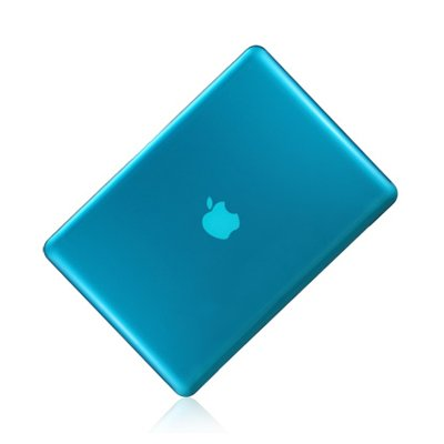 """TopCase AQUA BLUE Crystal See Thru Hard Case Cover for Macbook Pro 13-inch 13"""" (A1278 / with or without Thunderbolt) -NOT for retina display- with TopCase Mouse Pad"""