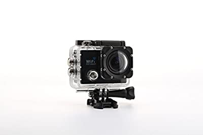 Uniquer Sport DV SJ9000 WiFi 14MP 170 Degree 1080P Digital Waterproof Helmet Sports Action Car Camera Black