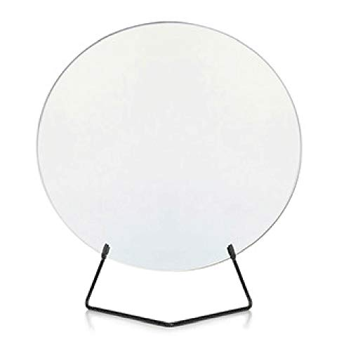 - GUOWEI Mirror Parlor Desktop HD Makeup Round Frameless Iron Simple, 2 Colors (Color : Black, Size : Diameter -40cm)