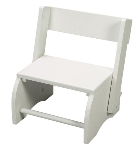 Gift Mark Childrens Flip Stool, White, Large by Gift Mark