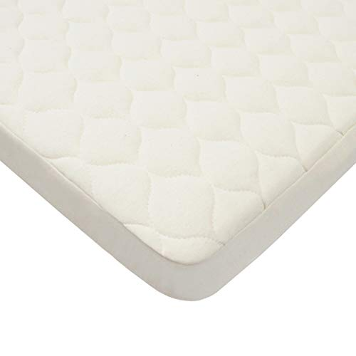 American Baby Company Waterproof Quilted Fitted Portable/Mini Crib pad cover made with Organic Cotton, Natural Color