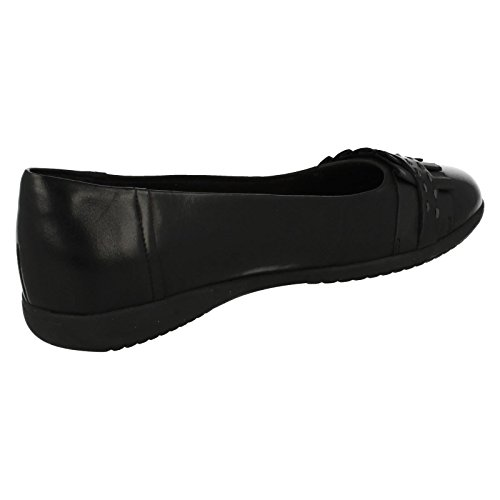 Feya Flat Shoes Black Island Women's Clarks Casual Cwq88I