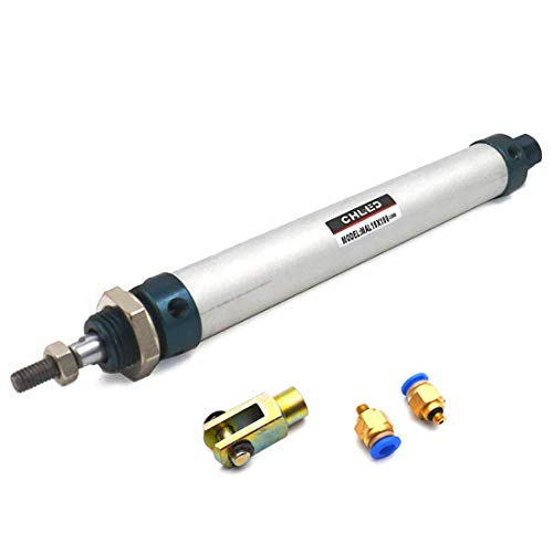 Sydien 16mm Bore 100mm Stoke Air Pneumatic Cylinder Double Action Single Rod with Mounting Accessories(MAL16x100)