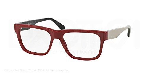 Prada Voice Eyeglasses PR16RV TKS1O1 Red 51 16 - Red Prada Glasses