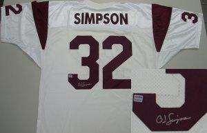low priced c7c68 de54c Amazon.com : Autographed O.J. Simpson Jersey - OJ USC ...