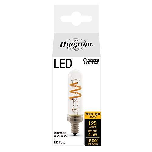 Feit 25-Watt Equivalent  T6 Candelabra Dimmable LED Vintage