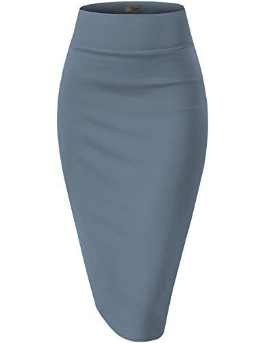 UPC 885020201145, Womens Pencil Skirt for Office Wear KSK43584 1139 BLUE RIVIE L