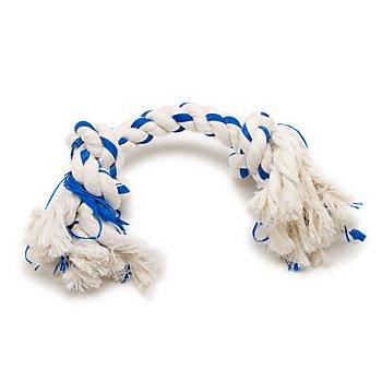 Booda Fresh N Floss 2 Knot Bone Rope Dog Toy, X-Large, Winter Mint, My Pet Supplies
