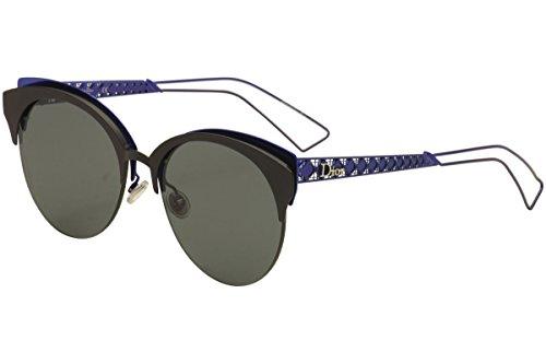 New Christian Dior Diorama Club G5V/2K Matte Black Blue/Green - Diorama 2 Sunglasses Dior