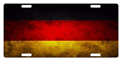 (Germany Flag German Emblem Dirty Ii Customized License Plate Aluminum Metal Decorative Car Tag Sign Auto Front License Plate 4 Holes (12
