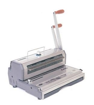 Akiles WireMac-31 Model AWM31 Wire Punch & Binding Equipment, 3:1 Pitch, All 40 Disengaging Dies, Square (0.157″ x 0.157″) Hole Punch, Heavy-Duty, 20 sheets single punching capacity (20 lbs paper)