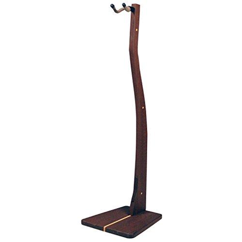 Zither Wooden Bass Guitar Stand - Handcrafted Solid Walnut Wood Floor Stands Best for Electric Bass Guitars, Made in USA