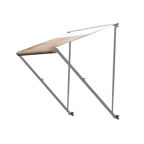 aleko 16x8 retractable rv or home patio canopy awning