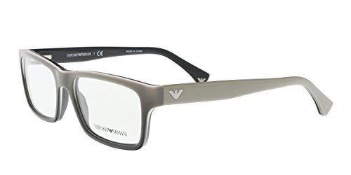 Emporio Armani EA 3050 Men's Eyeglasses White Gradient Black On Black - Prescription Armani Frames