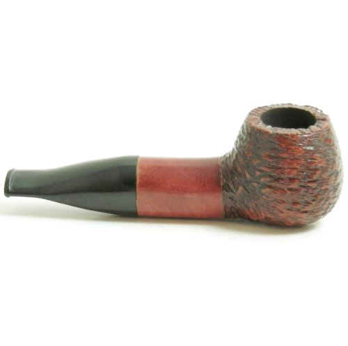 Mr. Brog Bulldog Tobacco Pipe - Model No: 34 Buldog Mahogany Rusticated - Pear Wood Roots - Hand Made