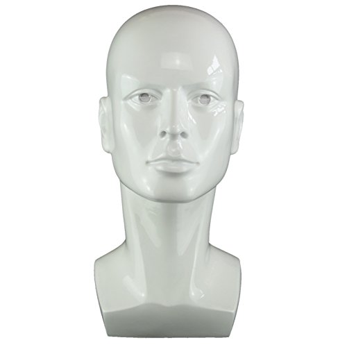LIAMTU Male Wigs Display Mannequin Head Stand Model White