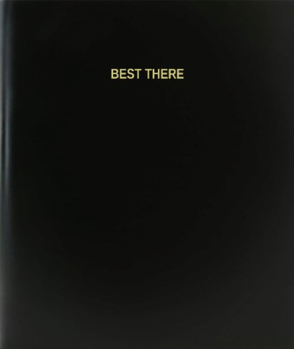 BookFactory Best There Log Book / Journal / Logbook - 120 Page, 8.5''x11'', Black Hardbound (XLog-120-7CS-A-L-Black(Best There Log Book)) by BookFactory