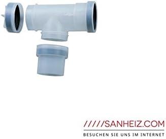JUNKERS condensación-Abgaszubehör de plástico PPS, DN 80, T-unidades de 90 grados c con las revisiones - apertura, AZB 624