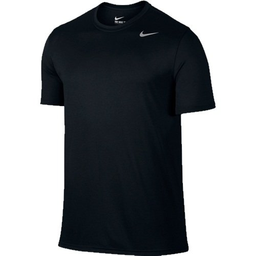 Nike Men's Legend 2.0 Short Sleeve Tee, Black/Matte Silver, - Dri Legend Fit