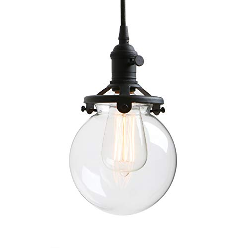 Glass Clear Mini Pendant - Permo Vintage Industrial Pendant Light Fixture Mini 5.9
