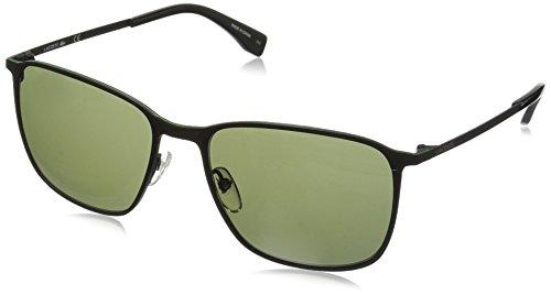 Lacoste Men's L178S Square Sunglasses, Satin Black, 57 mm