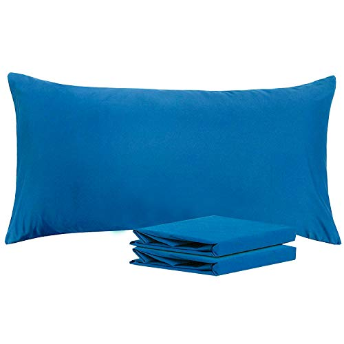 NTBAY King Pillowcases, Set of 2, 100% Brushed Microfiber, Soft and Cozy, Wrinkle, Fade, Stain Resistant, with Envelope Closure, Royal Blue