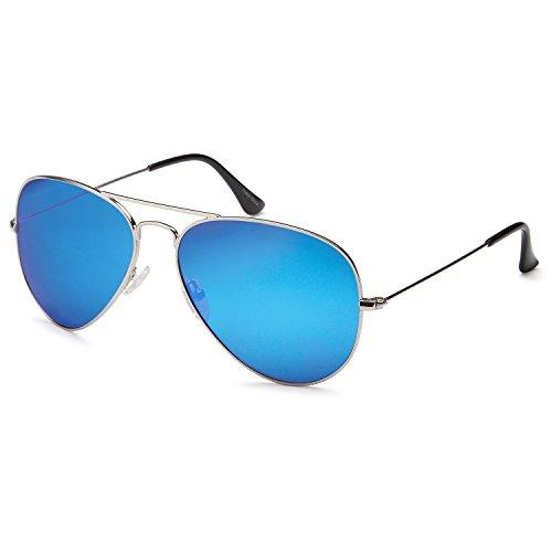 5e06affb22 Amazon.com  JETPAL Premium Classic Aviator UV400 Sunglasses w Flash Mirror  Lenses - Choose From Adult or Kids Sizes  Clothing