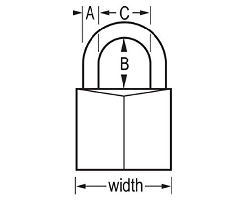 Master Lock Padlock, Solid Brass Lock, 1-9/16 in. Wide, 140QLH (Pack of 4-Keyed Alike) by Master Lock