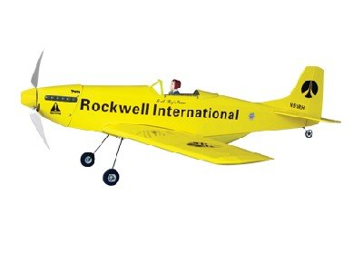 - The World Models P-51 Mustang EP Yellow Rockwell ARF Kit