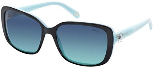 Tiffany 4092 8044/4S Black / Azure Twist Square Sunglasses Lens Category 3 Size