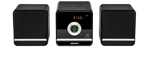 MEDION LIFE P64102 (MD 84497) Micro-Audio-System (CD, MP3, USB, FM UKW, 20 Senderspeicher, 2 x 5 Watt RMS, 5 Soundvoreinstellungen) schwarz