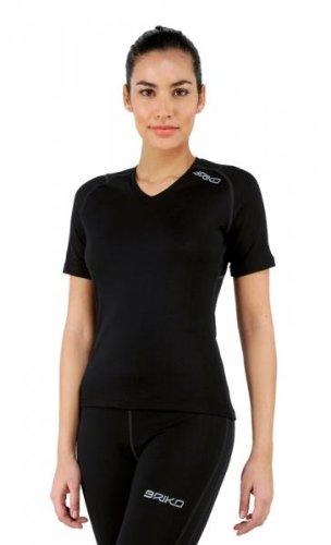À manches courtes T-shirt Briko hiver respirant femme noire CORELIGHT 100064