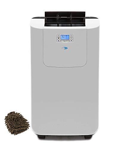 (Whynter Elite Dual Hose Portable Air Conditioner ARC-122DS, 12000 BTU Drain Activated Carbon Filter Dehumidifier, Fan (Complete Set) w/Bonus: Premium Microfiber Cleaner Bundle)