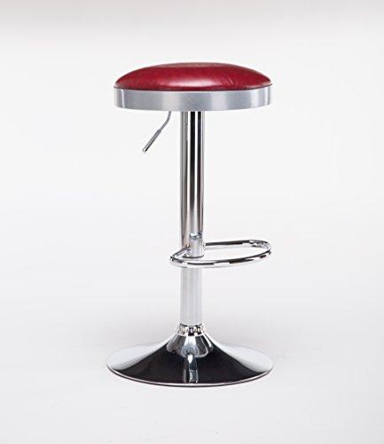 Boraam 98010 Copley Backless Stool, 1-Pack, Adjustable Height, Red by Boraam (Image #2)