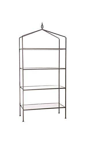 Stone Country Ironworks Basketweave 4 Tier Standing Shelf 4 Hand Rubbed Pewter 205013-OG-142756-O-758975 by Stone Country Ironworks (Image #2)