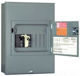 Generator Panel - Square D by Schneider Electric QO 60 Amp 4-Space 8-Circuit Generator Panel Surface Mount with Door