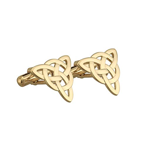 Celtic Cufflinks Gold Plated Trinity Knot Made in Ireland