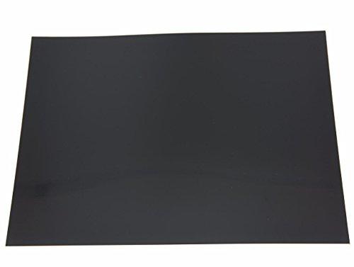 Dopro 25x20cm Black Acoustic Guitar Self Adhesive Scratch Plate Sheet Pickguard Material Sheet