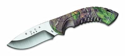 Buck Knives 390 Omni Hunter Fixed Blade Knife with Heavy-Duty Nylon Sheath