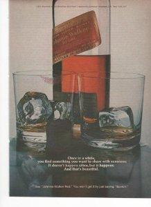 Johnnie Walker Red Blended Scotch Whisky 1973 Vintage Antique Advertisement