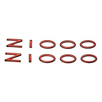 PRO-KODASKIN Motorcycle 3D Raise ZZR Emblem Sticker Decal for Kawasaki ZZR250 ZZR400 ZZR600 ZZR1400 Red