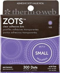 Bulk Buy: Thermoweb Zots Memory Adhesive Dots Small 3/16