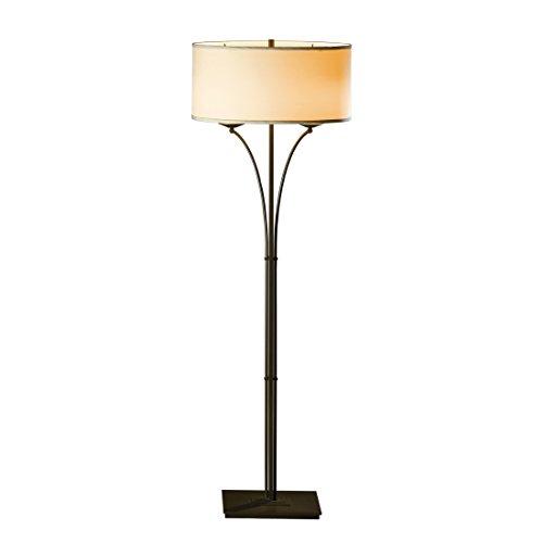 Hubbardton Forge 232720-1000 Contemporary Formae Floor Lamp, Mahogany Finish, Doeskin Suede