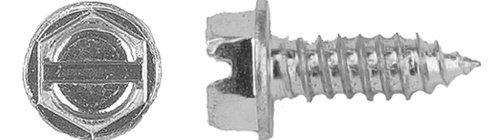 1000 License Plate Screws 1/4'' (#14) X 3/4'' Hex Head Zinc Tag Screws by Clipsandfasteners Inc