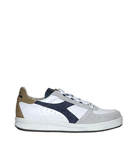 Uomo EU B S Pelle Diadora Elite Sneakers Heritage 42 Suede Bianco L RqEwnCA5P