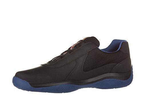 Prada Mens Shoes Leather Trainers Sneakers Nevada Rubber Bike Black w7sEUIaN